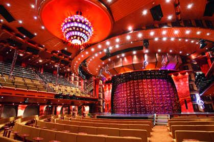 Imagen del Teatro Stardust del Barco Costa Pacifica