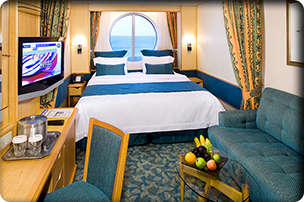 Imagen de un Camarote con vistas al mar del barco Brillance of the Seas