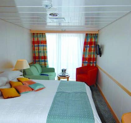 Imagen de un Camarote con balcón del barco Zenith de Croisieres de France
