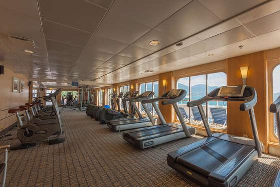 Imagen de la  Sala de deportes del barco Zenith de Croisieres de France