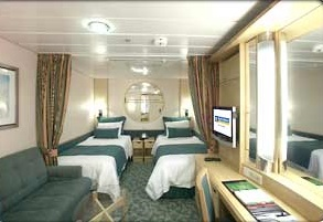 Imagen de un Camarote Interior del barco Freedom of th Seas
