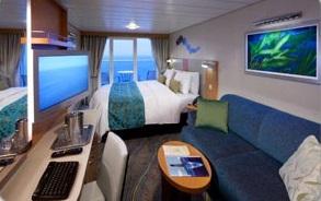 Imagen de un Camarote con balcón del barco Harmony of the Seas