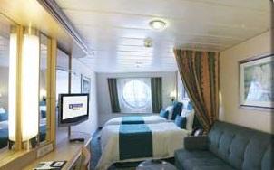 Imagen de un Camarote con vistas al mar del barco Grandeur of the Seas