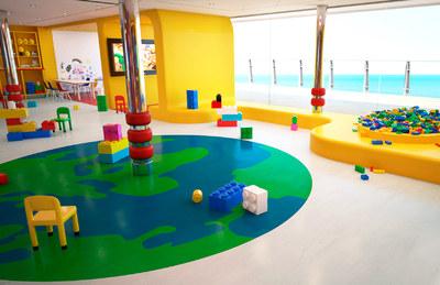 Imagen de una Zona infantil del barco MSC Meraviglia