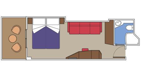 Imagen de un Camarote con balcón del barco MSC Seaside de MSC Cruceros