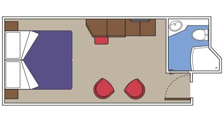 Imagen de un Camarote Interior Yatch Club del barco MSC Seaside de MSC Cruceros