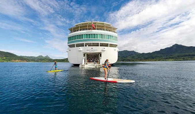 PaddleBoard del barco Paul Gauguin