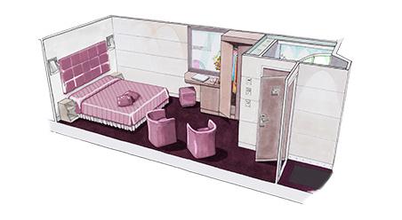 Imagen de un Camarote interior del barco MSC Meraviglia