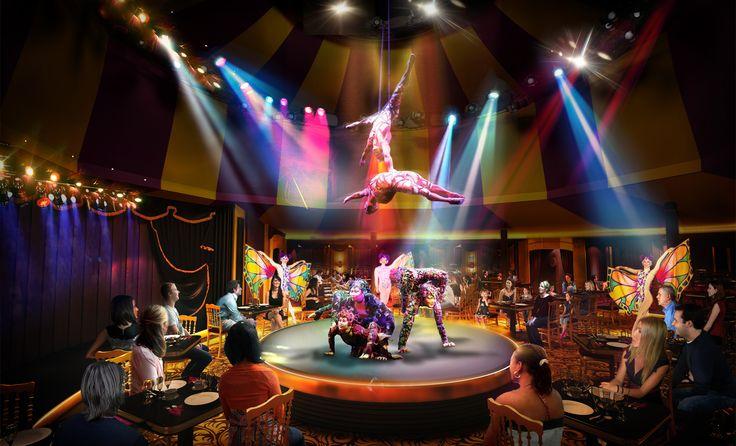 Les 5 meilleurs restaurants de croisière. cirque