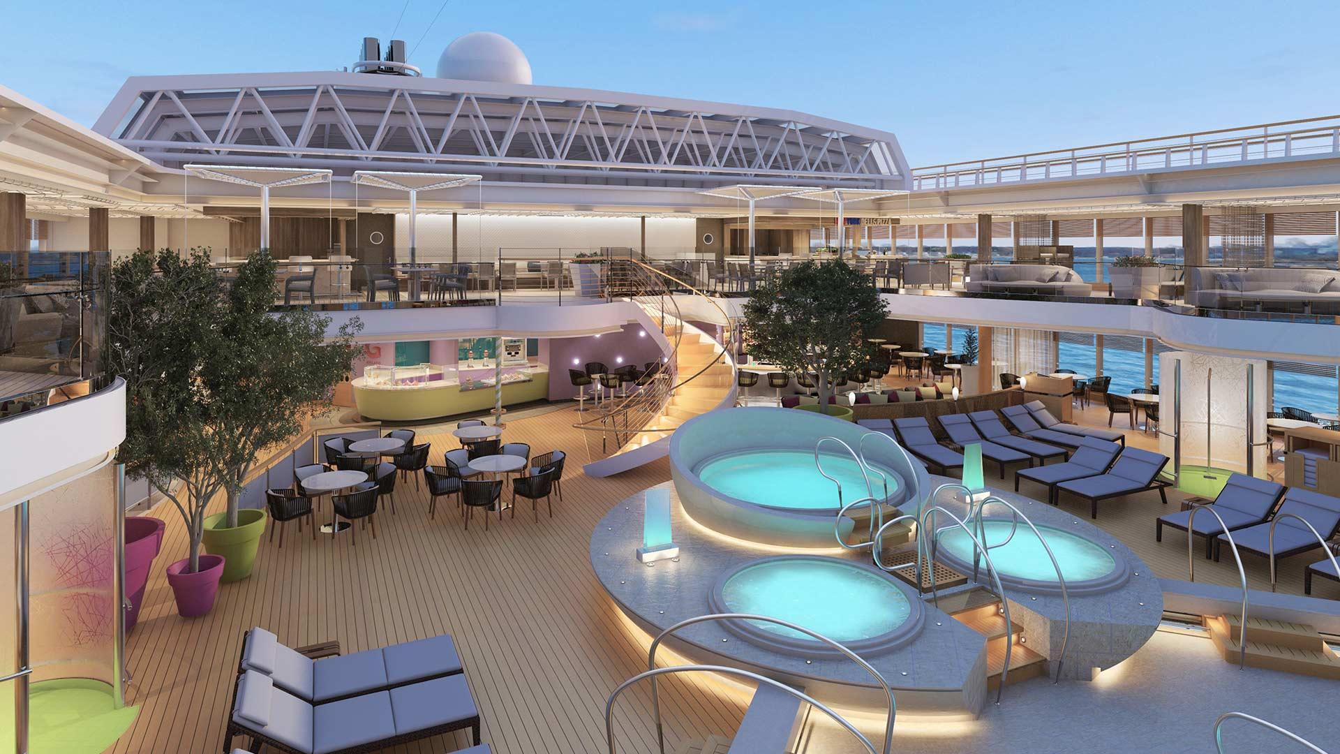 Las 5 mejores piscinas en cruceros red social de for Mejores piscinas