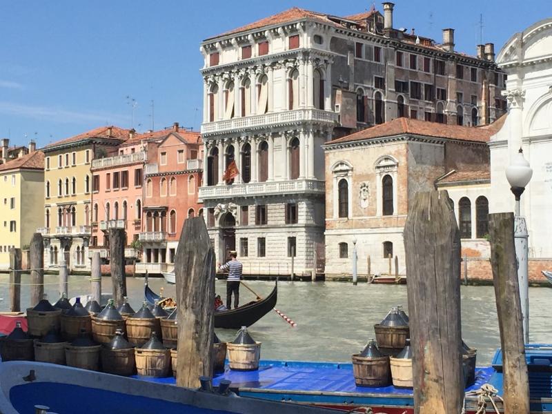 Escala de crucero en Venecia. Crucero desde Venecia. Gran Canal