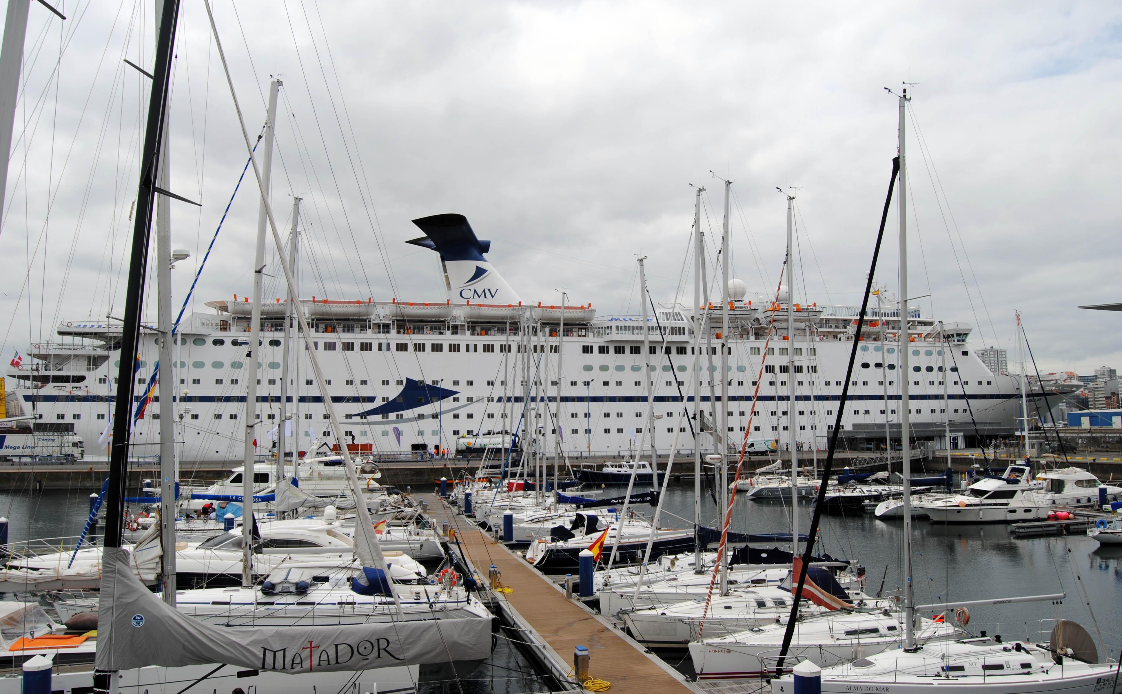 El tráfico de cruceros en el puerto de A Coruña se incrementó en un 50% en el primer semestre de 2017