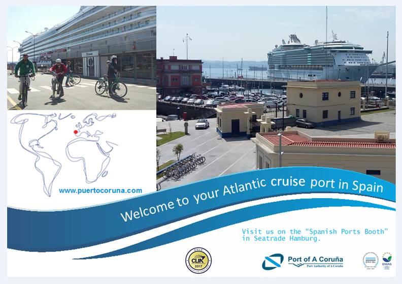 El Puerto de A Coruña participará esta semana en la Seatrade de Hamburgo tras conseguir su récord histórico de escalas en septiembre