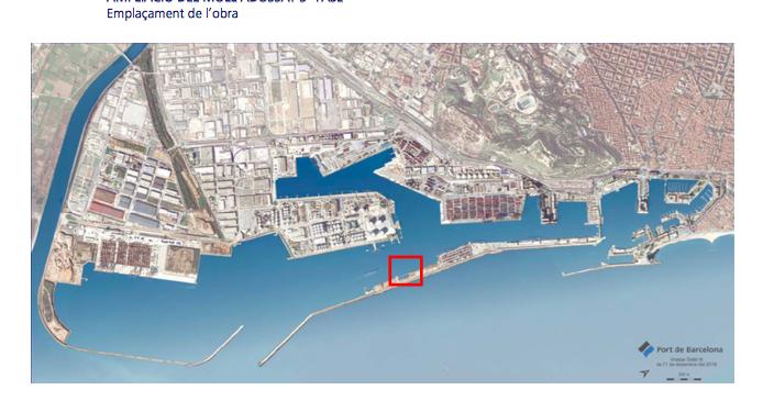 El Port de Barcelona licita la ampliación del Muelle Adosado por 39 millones
