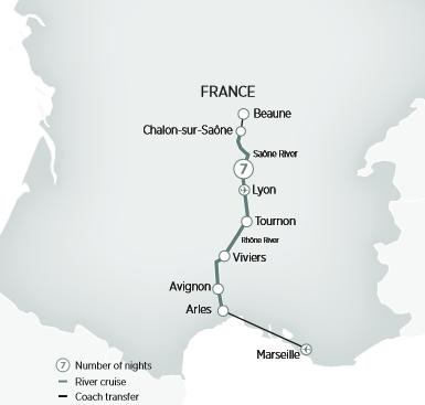 Sur de Francia en un crucero fluvial con Emerald Waterways